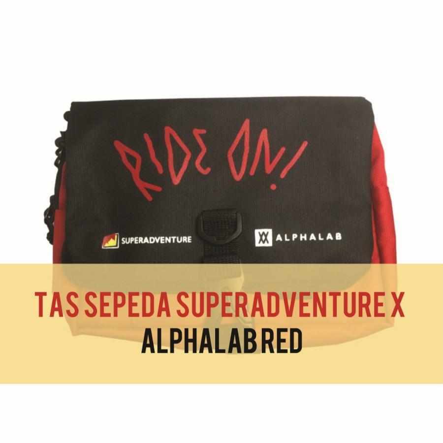 Tas Sepeda SA X Alphalab-Tas Sepeda Pria Wanita-Bahan Cordura-Red