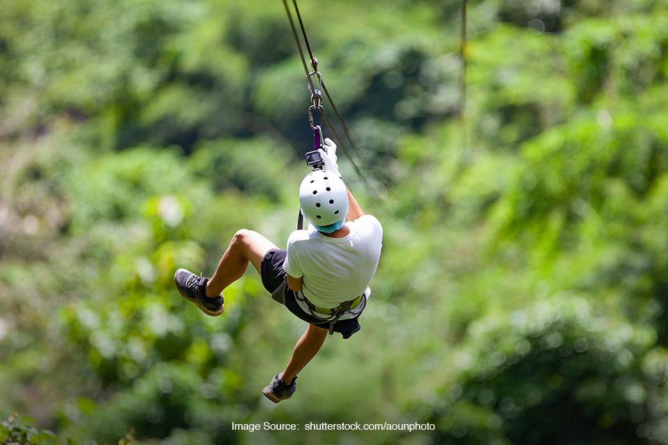 Zipline terpanjang di Indonesia