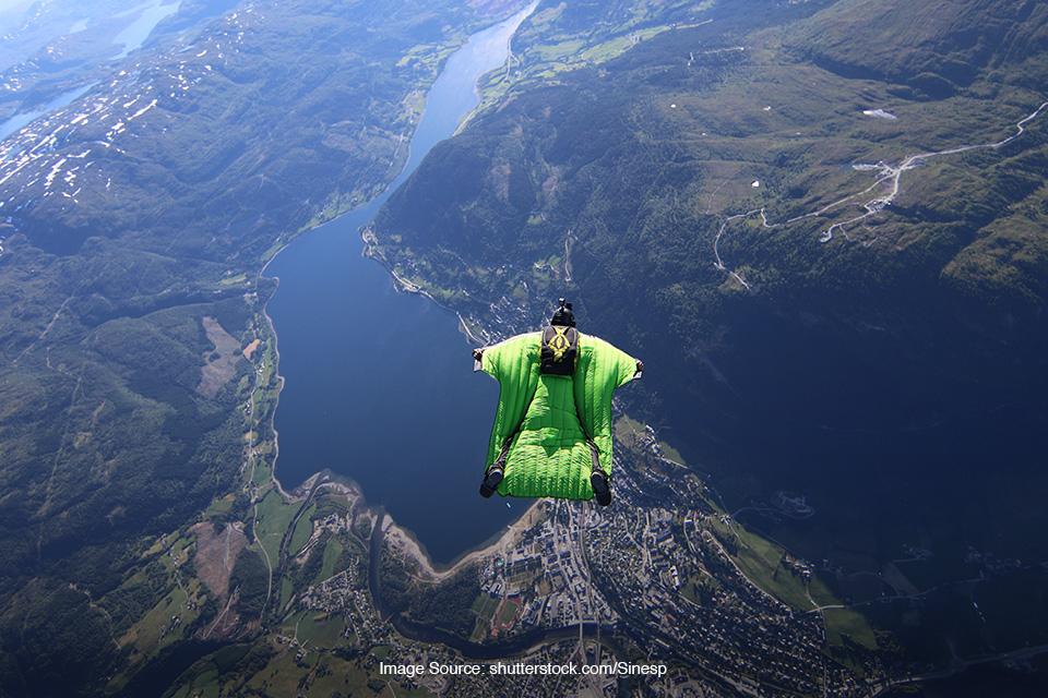 lokasi wingsuit