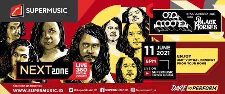 'Supermusic Nextzone Live 360 Virtual Concert' Pertemukan Dua Band Rock Fenomenal, Mooner dan Black Horses