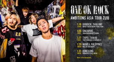 ONE OK ROCK Gelar Tur Asia, Sambangi Singapura Awal Tahun Mendatang