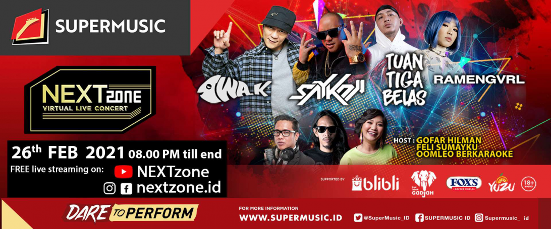 NEXTzone Virtual Live Concert – Vol 4: Hadirkan Iwa K hingga Saykoji