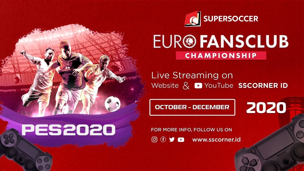 Live Streaming Euro Fansclub Championship PES 2020 Area Satria Bahari VS Phinisi
