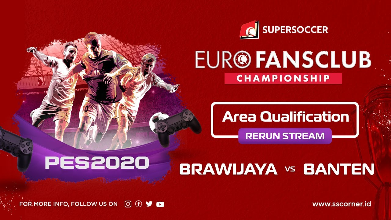 Live Streaming Euro Fansclub Championship PES 2020 Area Banten vs Brawijaya