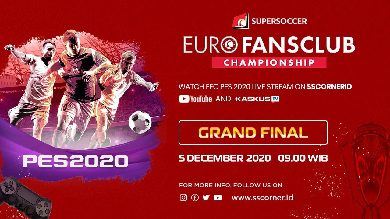 Live Streaming GRAND FINAL Euro Fansclub Championship PES 2020